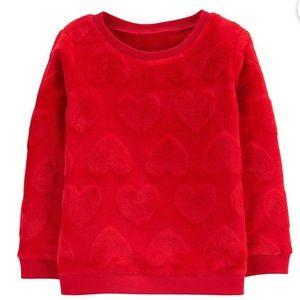 Carter's Heart Fuzzy Sweatshirt (9M)